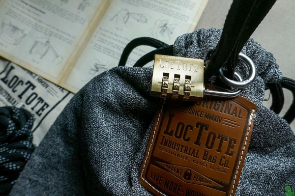 LocTote Flak Sack – Solid Brass combination lock