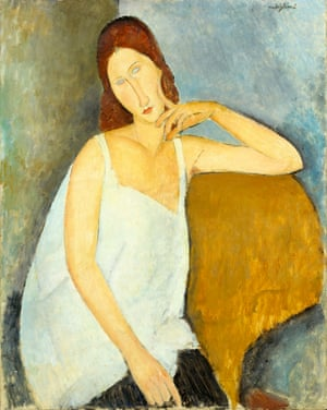 Modigliani's painting of his lover Jeanne Hébuterne.