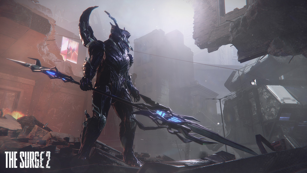 The Surge 2 big enemy with a spear
