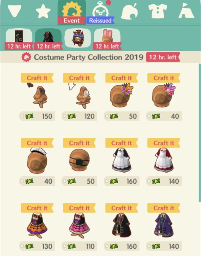 An in-game menu of new clothing to buy in Animal Crossing: Pocket Camp, but it's only available for premium currency