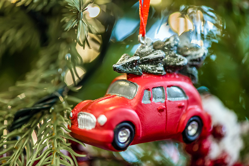 car ornament christmas tree