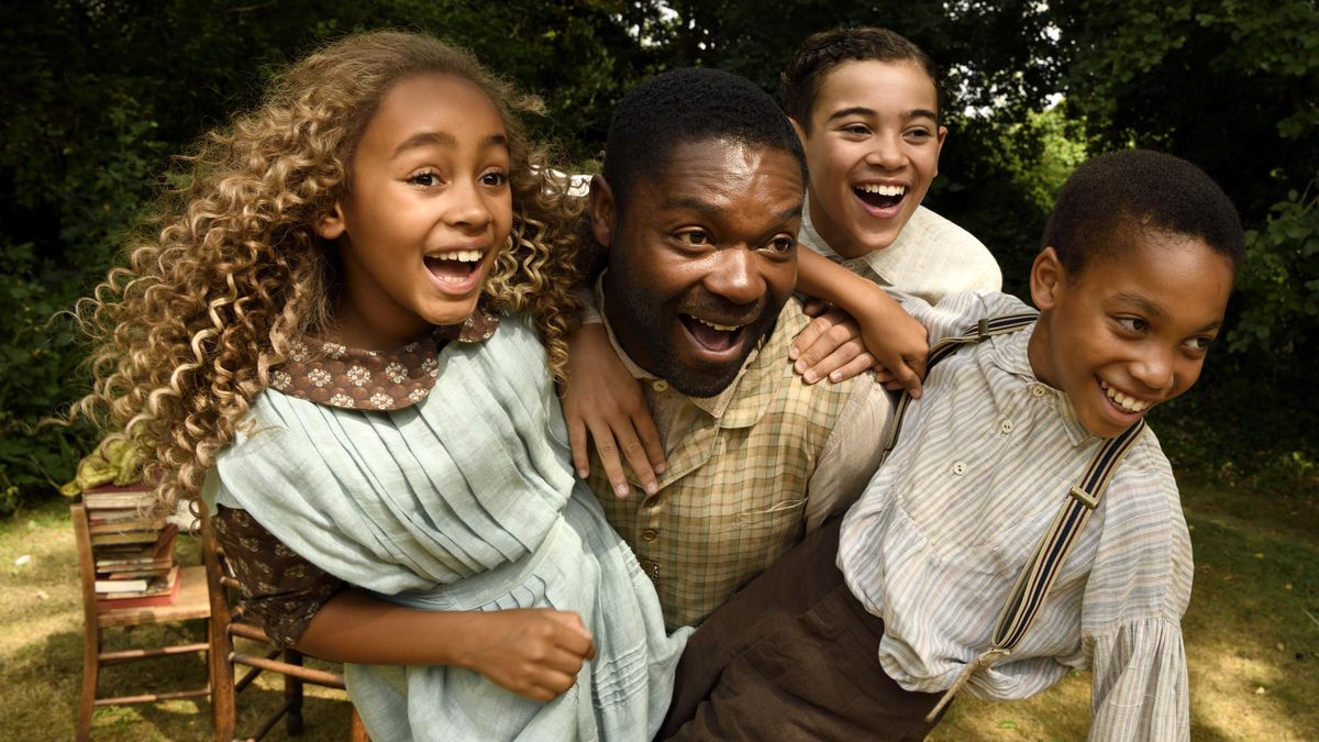 David Oyelowo is surrounded by delighted children in Brenda Chapman's film Come Away.
