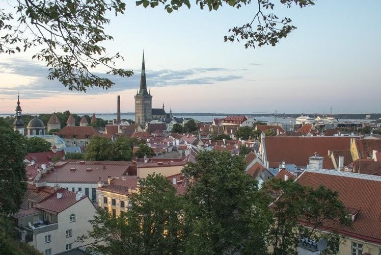 Visit Estonia (over looking the skyline of Estonia)
