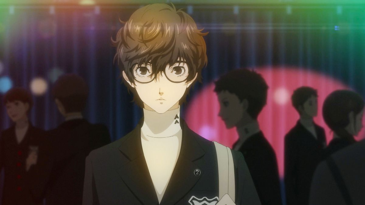 The unnamed protagonist of Persona 5 Royal in his high school uniform