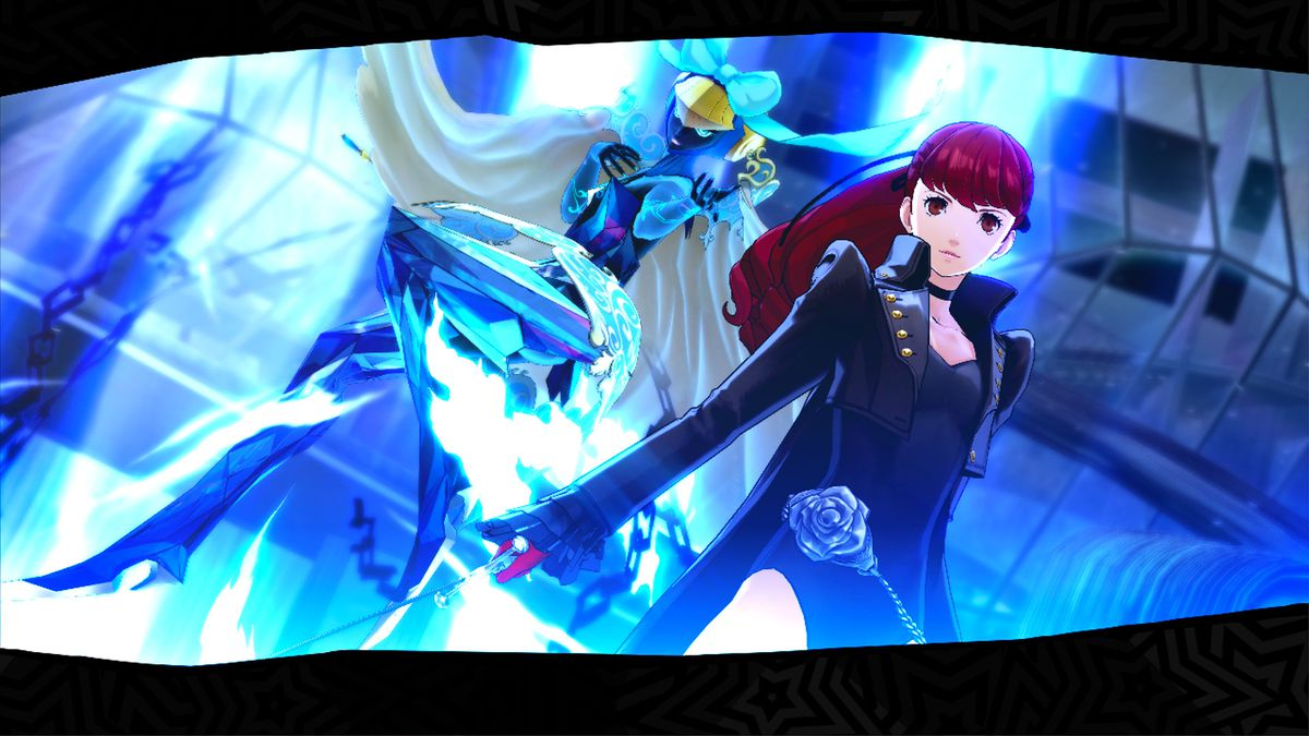 Kasumi and her persona in action in Persona 5 Royal.