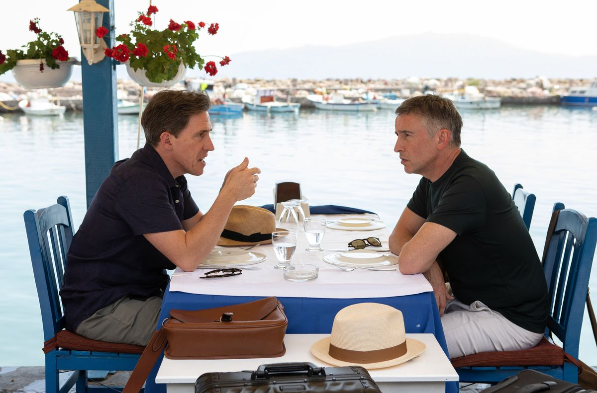 rob brydon and steve coogan in the trip to greece