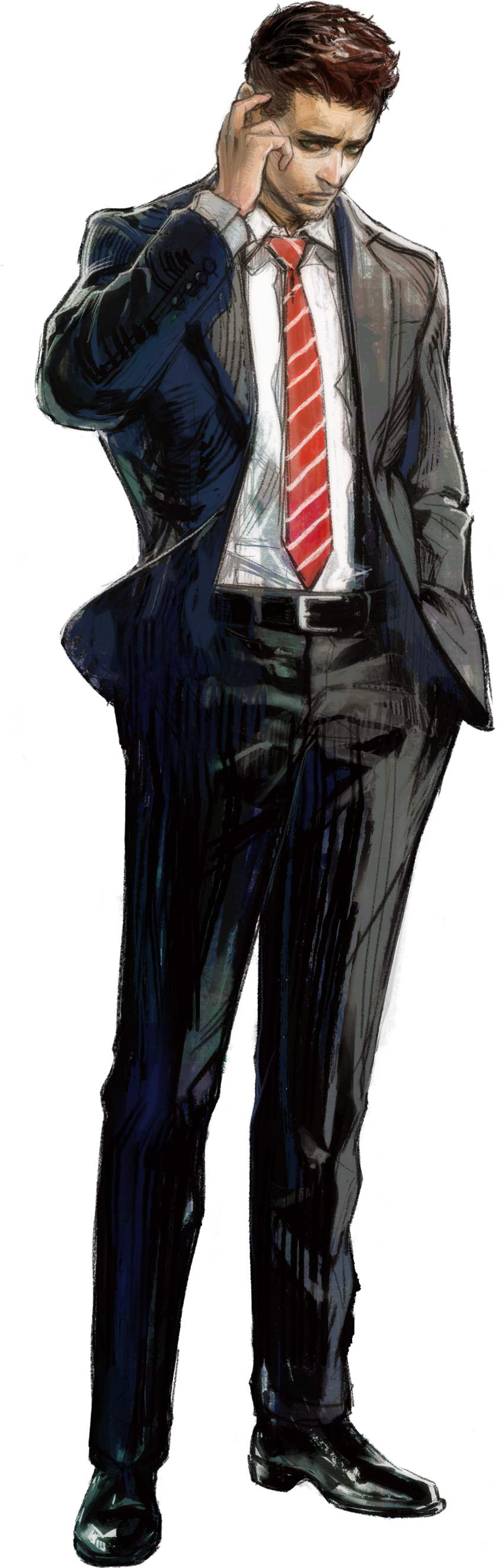 A drawing of Agent York in Deadly Premonition 2