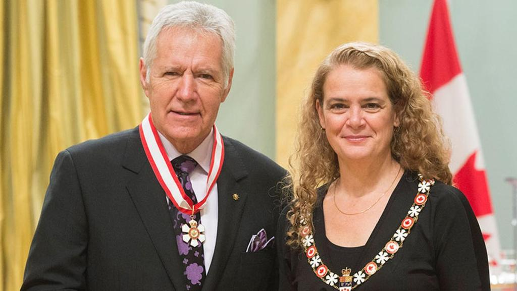 Alex Trebek receives Order of Canada