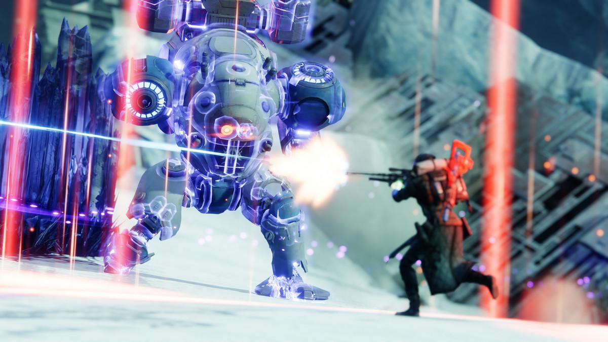 Destiny 2: Beyond Light Guardians fight a mech