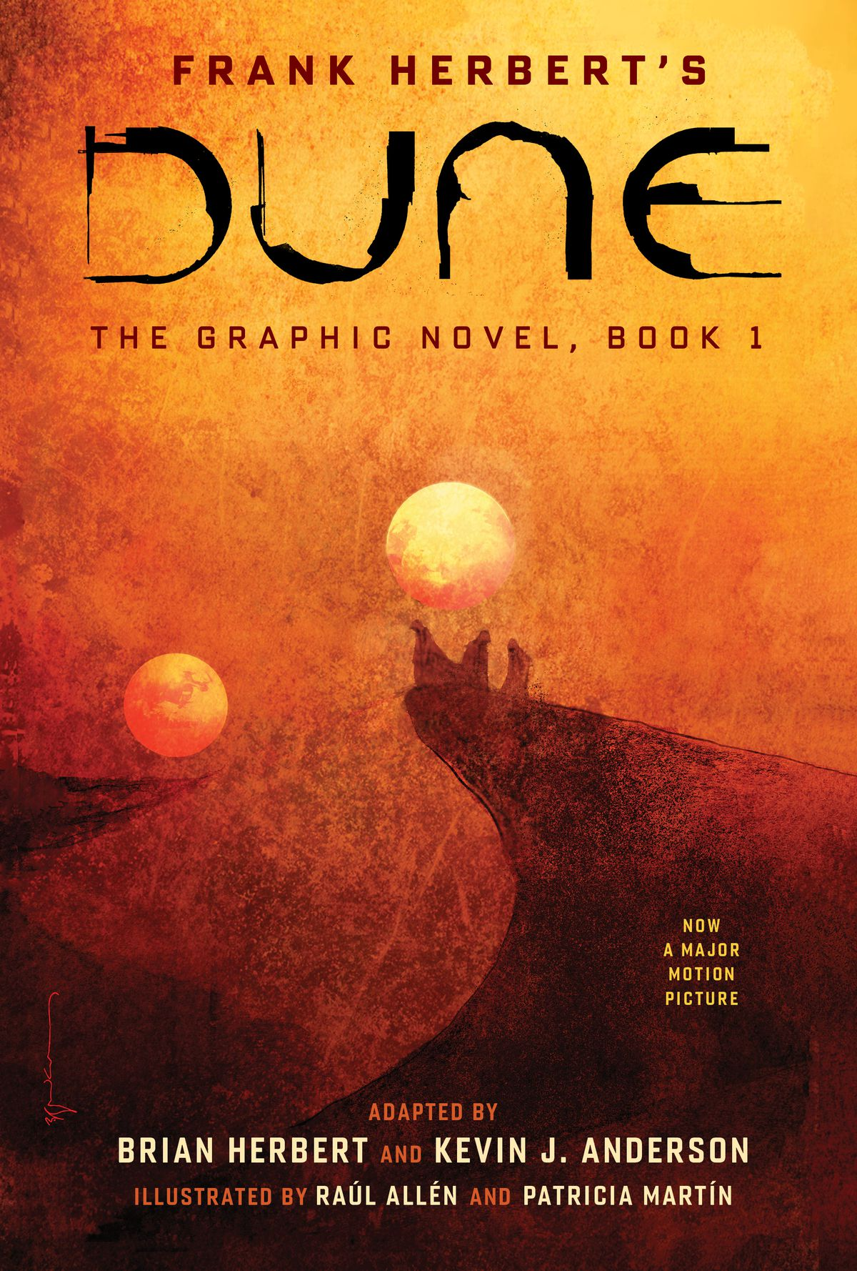 Cover art, and text, for Dune: The Graphic Novel, Book 1