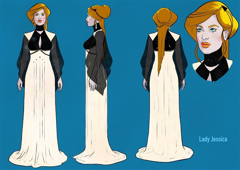Concept art for Lady Jessica in Dune: The Graphic Novel — Book 1