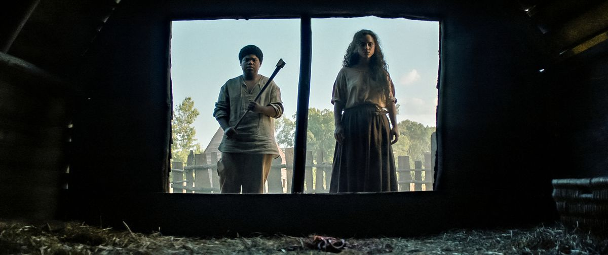 BENJAMIN FLORES JR. as HENRY and KIANA MADEIRA as SARAH FIER in Fear Street Part Three: 1666