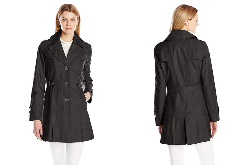 Via spiga women's single-breasted pleated trench coat.